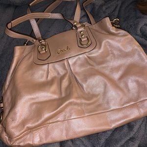 Coach Rose Gold Hobo Purse